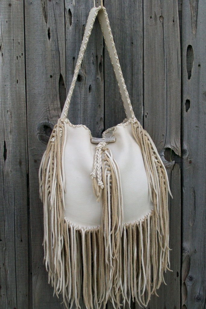 Fringed Hobo Handbag