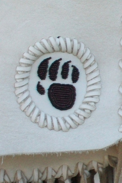 Beaded bear paw