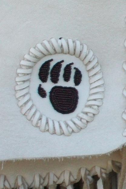 Beaded bear paw