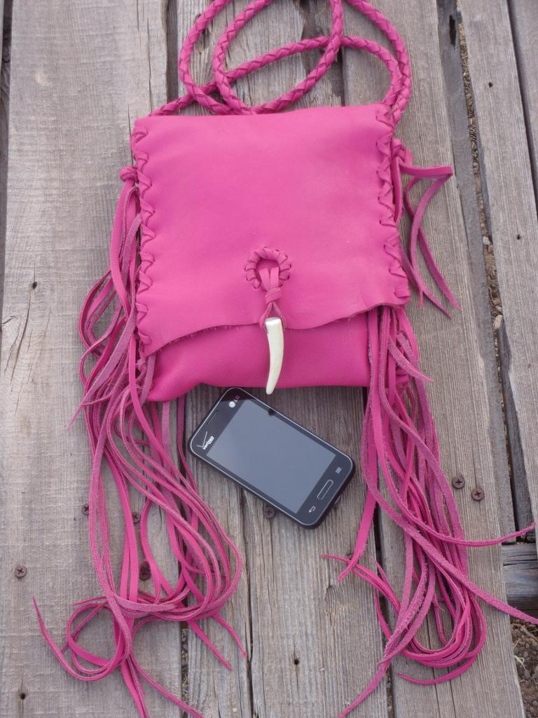 pink leather handbags