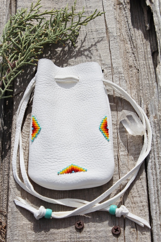 Beaded amulet bags