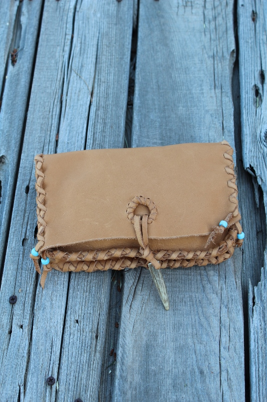 Large leather clutches handmade one of a kind